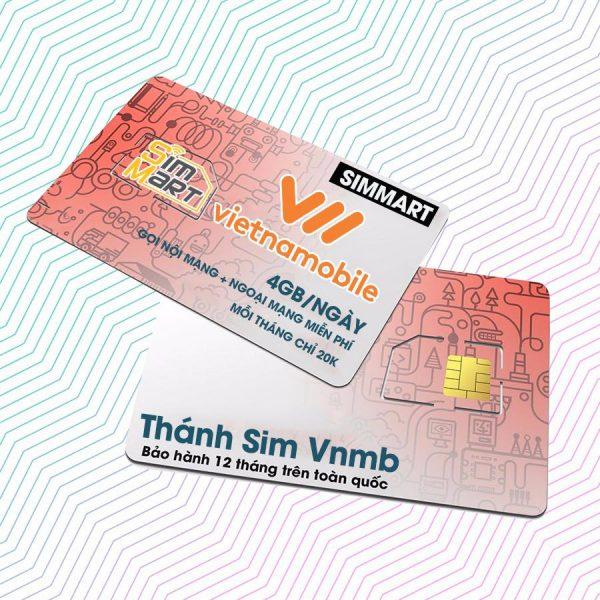 Siêu thánh sim 4G vietnamobile 120GB Tặng 40k